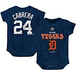 Newborn & Infant Majestic Miguel Cabrera Navy Detroit Tigers Stitched Player Name & Number Bodysuit