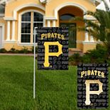 Pittsburgh Pirates 18'' x 12.5'' Double-Sided Glitter Suede Garden Flag