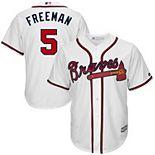 Men's Majestic Freddie Freeman #5 White Atlanta Braves Big & Tall Cool Base Player Jersey