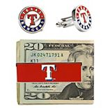 Texas Rangers Cuff Links and Money Clip