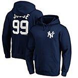 Men's Majestic Aaron Judge Navy New York Yankees Player Name & Number Pullover Hoodie