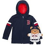 Toddler Cubcoats Navy Boston Red Sox 2-in-1 Transforming Full-Zip Hoodie & Soft Plushie