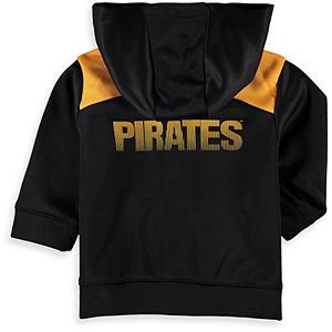 Infant Majestic Black Pittsburgh Pirates Play Action Full-Zip Hoodie & Pants Set