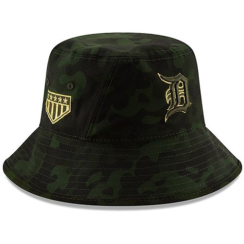 Detroit Tigers New Era 2019 MLB Armed Forces Day Bucket Hat - Camo