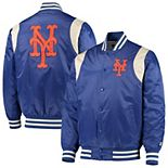 Men's Starter Royal/Cream New York Mets Vintage Varsity Satin Full-Snap Jacket