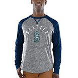 Men's Majestic Gray/Navy Seattle Mariners Special Move Long Sleeve T-Shirt