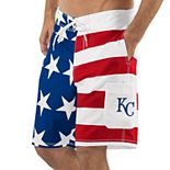 Men's G-III Sports by Carl Banks Red/Blue Kansas City Royals Americana Swim Trunks