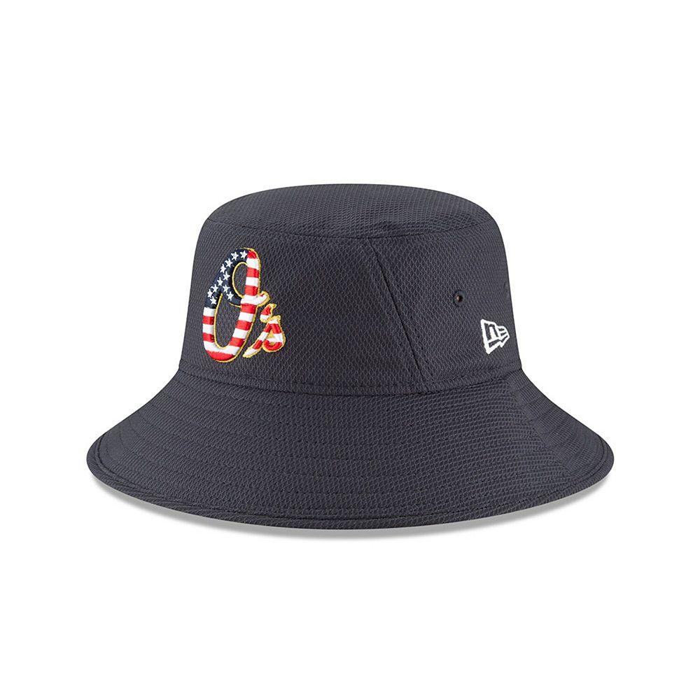 Men's New Era Navy Baltimore Orioles 2018 Stars & Stripes 4th of July Bucket Hat