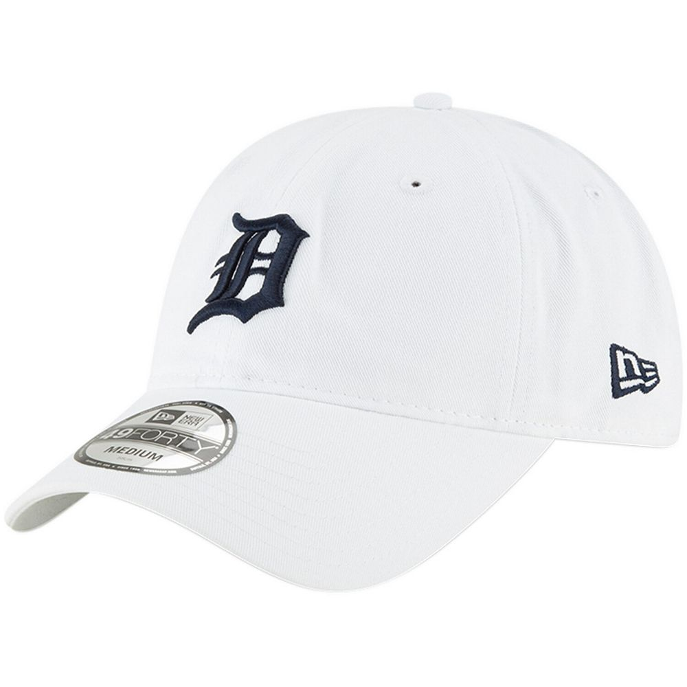 Men's New Era White Detroit Tigers Core 49FORTY Fitted Hat