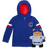 Toddler Cubcoats Royal Chicago Cubs 2-in-1 Transforming Full-Zip Hoodie & Soft Plushie