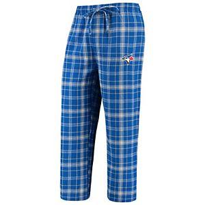 Men's Concepts Sport Royal/Gray Toronto Blue Jays Team Ultimate Plaid Flannel Pants