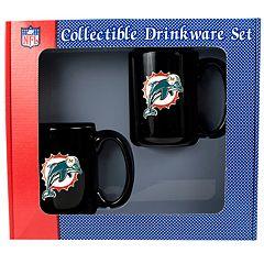 Miami Dolphins 2 pc Ceramic Mug Set