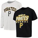 Youth Stitches Black/White Pittsburgh Pirates T-Shirt Combo Set