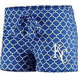 Women's Concepts Sport Royal/White Kansas City Royals Slumber Sleep Shorts