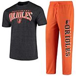 Men's Concepts Sport Heathered Orange/Heathered Charcoal Baltimore Orioles Holiday Pants & Top Sleep Set