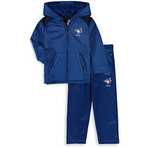 Infant Majestic Royal Toronto Blue Jays Play Action Full-Zip Hoodie & Pants Set