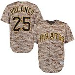Men's Majestic Gregory Polanco Camo Pittsburgh Pirates Alternate Official Cool Base Player Replica Jersey