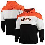Men's Majestic Orange/Black San Francisco Giants Big & Tall Color Blocked Pullover Hoodie