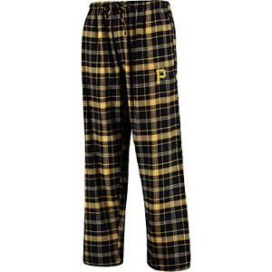Men's Concepts Sport Black/Gold Pittsburgh Pirates Ultimate Plaid Flannel Pants