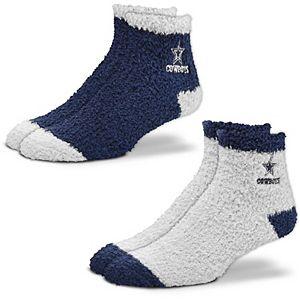 Women's For Bare Feet Dallas Cowboys 2-Pack Sleep Soft Socks