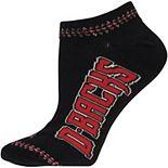 Women's For Bare Feet Arizona Diamondbacks 529 Stitch Quarter-Length Socks