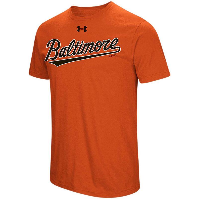 Men's Under Armour Orange Baltimore Orioles Passion Road Team Font Performance T-Shirt, Size: 5XL