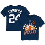 Toddler Majestic Miguel Cabrera Navy Detroit Tigers Snack Attack Name & Number T-Shirt