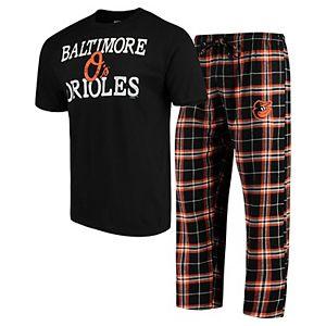 Men's Concepts Sport Black Baltimore Orioles Duo Pants & Top Set
