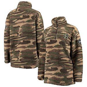 Women's Camo Florida State Seminoles OHT Military Appreciation Sherpa Quarter-Zip Pullover Jacket