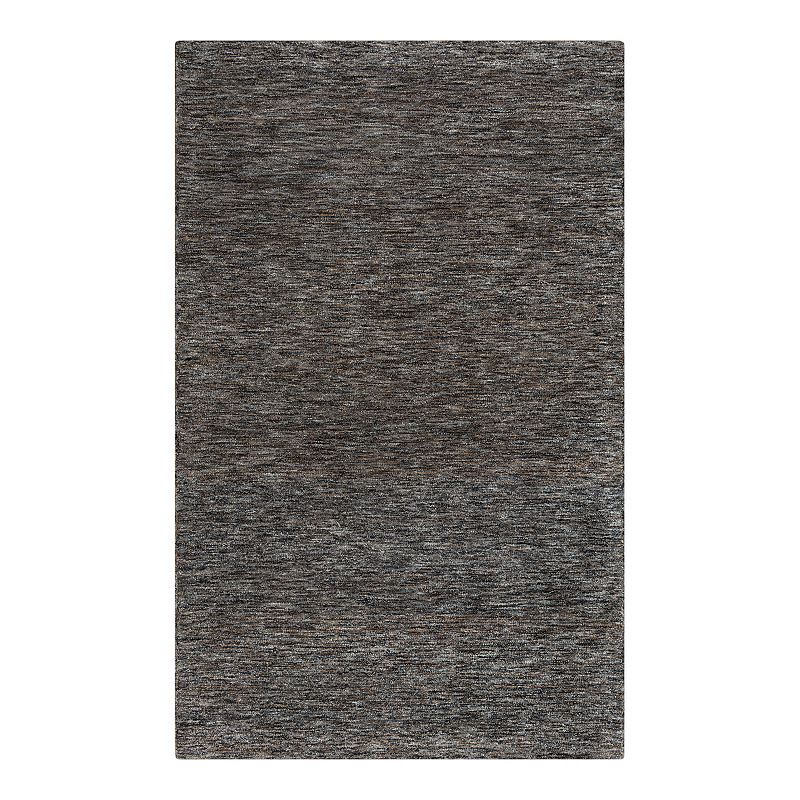 Rizzy Home Becker Wool Area Rug - 5' x 8', Grey, 5X8 Ft Product Image