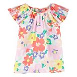 Girls 4-14 Carter's Floral Poplin Top