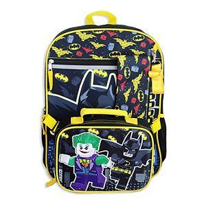 Boys Lego Batman 4-piece Backpack Set