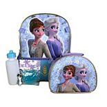 Disney's Frozen 2 Girls 5-piece Backpack Set