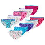 Girls 6-14 Hanes 8+2 Bonus Pack Cotton Bikini Bottom Underwear