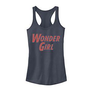 Juniors' DC Comics Wonder Girl Text Logo Tank Top