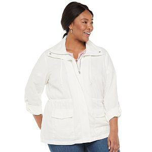 Plus Size Croft & Barrow® Soft Utility Jacket