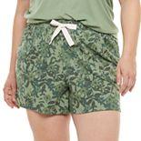 Plus Size SONOMA Goods for Life® Essential Rib Sleep Shorts