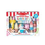 Melissa & Doug Sweet Multi-Colored Chalk and Holders Play Set - 33 Pieces