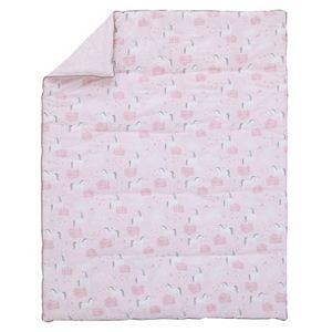 Girls NoJo Unicorn 4 Piece Nursery Crib Bedding Set
