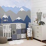 Boys NoJo Mountain Patchwork 4 Piece Nursery Crib Bedding Set