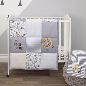 Boys Little Love by NoJo Roarsome Lion 3 Piece Nursery Mini Crib Bedding Set