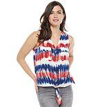 Women's Rock & Republic? Knot-Hem Sleeveless Button-Down Shirt