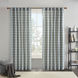 Madison Park Salford Plaid Rod Pocket and Back Tab Window Curtain