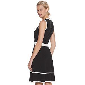 Women's Nina Leonard Color Block Sweater Dress