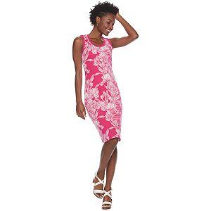 Women's Nina Leonard Floral Jacquard Sweater Dress