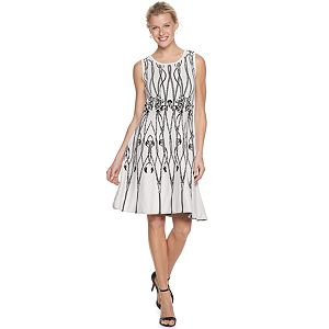 Women's Nina Leonard Fit and Flare Sweater Dress