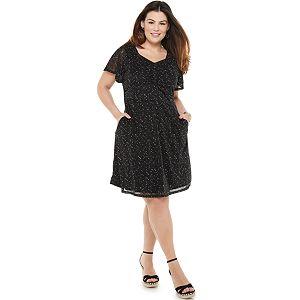 Plus Size EVRI Shirred Front Dress