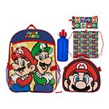 Mario Bros. 5-piece Backpack Set