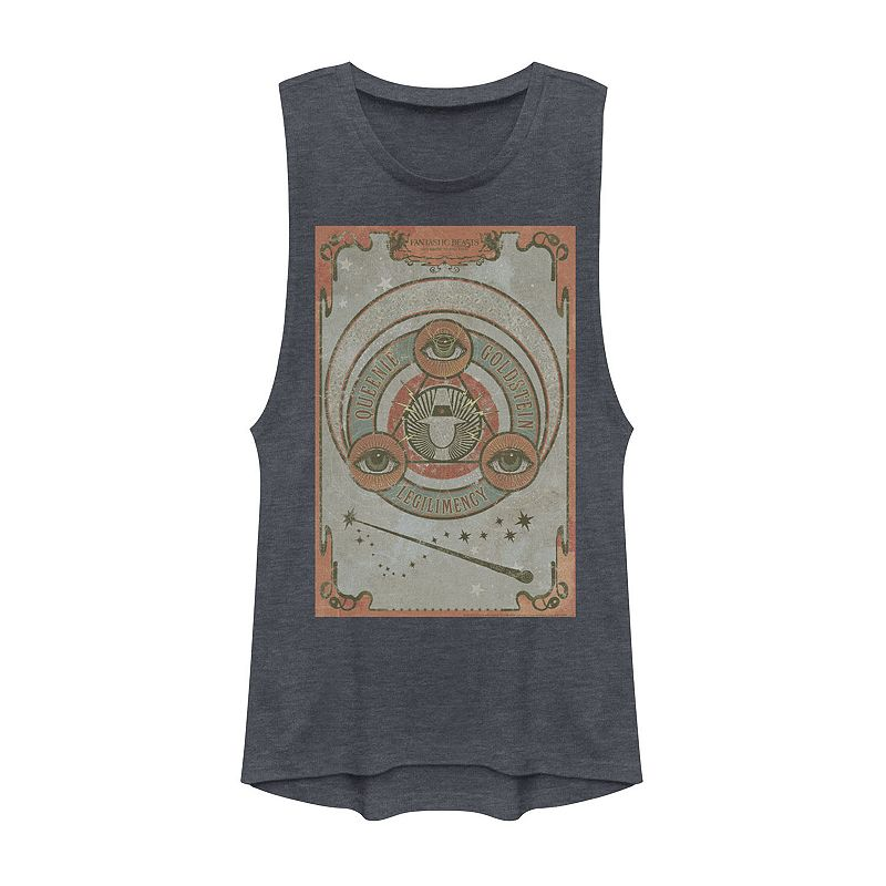 Juniors' Fantastic Beasts And Where To Find Them Queenie Goldstein Tarot Muscle Tee, Girl's, Size: Large, Blue