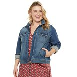 Plus Size SONOMA Goods for Life® Everyday Zip-Front Jean Jacket